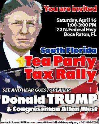 Trump flyer