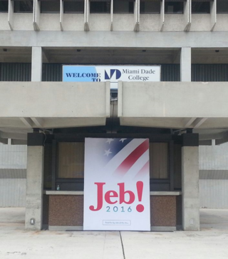 Jeb Miami Dade sign